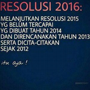 Resolusi di Tahun 2016